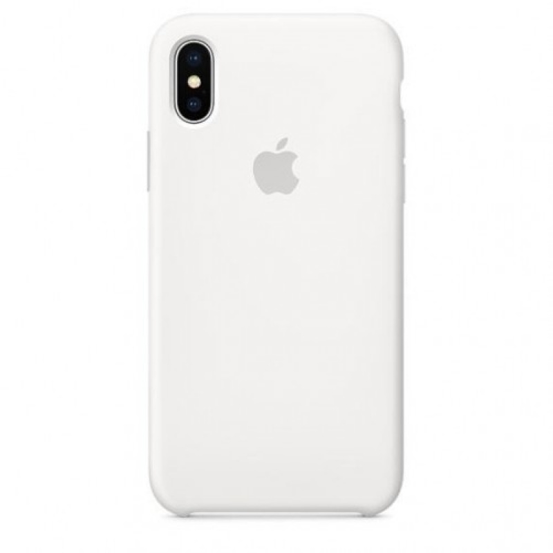 Накладка Apple iPhone X Silicon Case Sale (Белый)