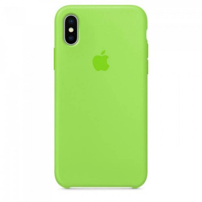 Накладка Apple iPhone X Silicon Case (Зеленый)
