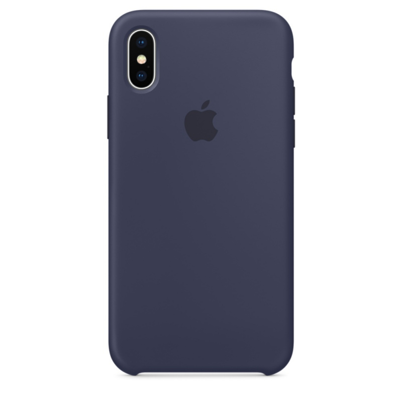 Накладка Apple iPhone X Silicon Case Sale (Темно-синий)
